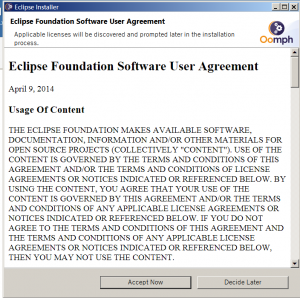 eclipse software agreement